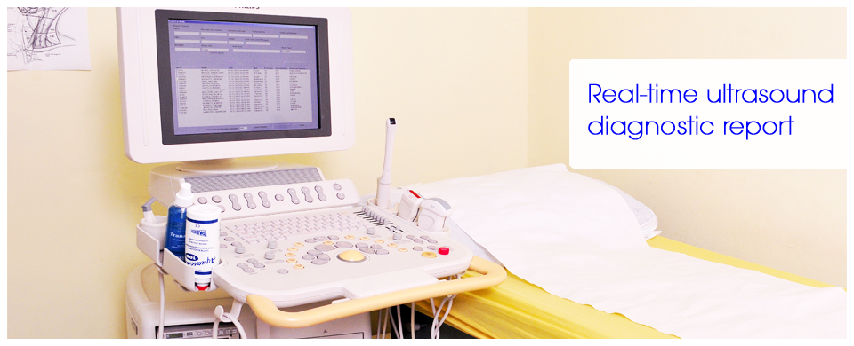 Real-time ultrasound diagnostic report